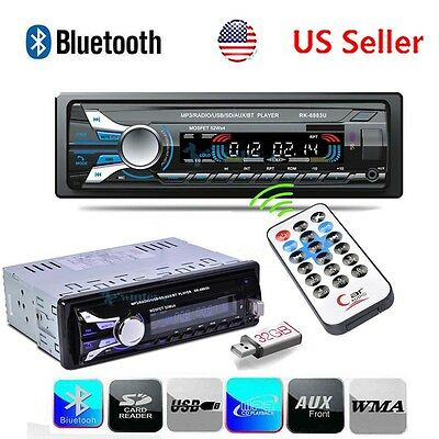 Car Stereo Radio Bluetooth In-dash Head Units Player FM MP3USBSDAUX for iPod