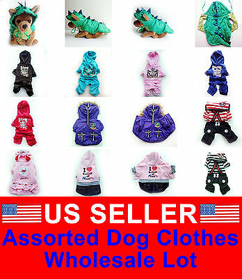 WHOLESALE LOT OF 5 Chihuahua Pet Dog Clothes Puppy Costume New Apparel  BOY S