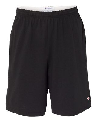 Champion 8180 9 Inseam Cotton Jersey Shorts with Pockets