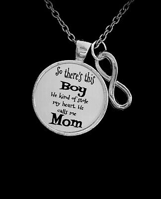 Infinity Boy Stole My Heart He Calls Me Mom Son Mothers Day Gift Necklace