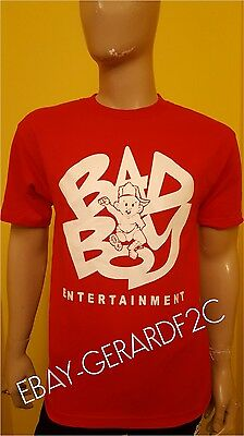 Bad Boy  Red T-Shirt  P Diddy Biggie Smalls Notorious Entertainment  AAA Tee