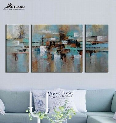 Large Framed Modern Abstract Oil Painting Canvas Wall Art Abstract Tone60x30
