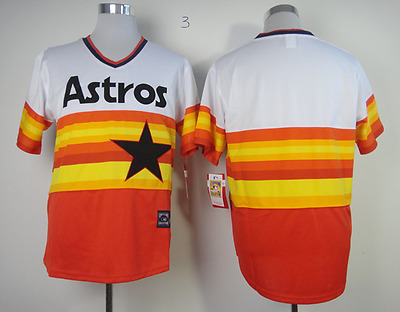 Houston Astros Cooperstown Rainbow Blank Baseball Jersey Men Throwback STITCHED