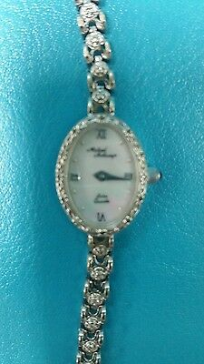 14K  White Gold - Diamond Michael Anthony Watch mother of pearl face 6-5