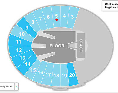 METALLICA SECTION 5 SET OF SEATS concert tickets Rose Bowl July 29 2017