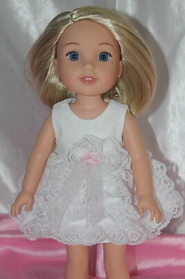 Doll Clothes fits 14inch American Girl Wellie Wishers Doll Dress Princess