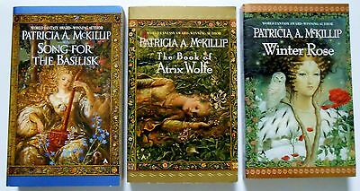 Lot of 3 by PATRICIA A- MCKILLIP Song For the Basilisk Atrix Wolfe Winter Rose