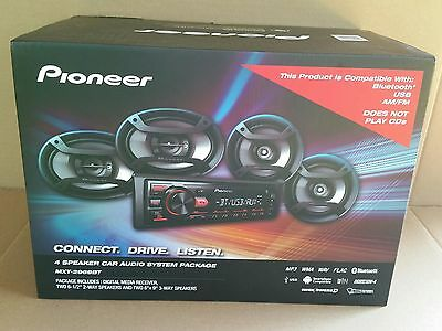 Pioneer Bluetooth Car Stereo System Receiver Two 6-5 - 6 x 9 Speakers USB Aux