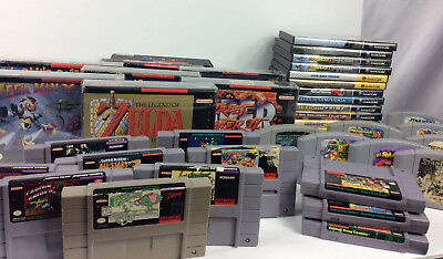Huge lot of Super nintendo - N64 Games- Snes console controller CIB bundle Mario