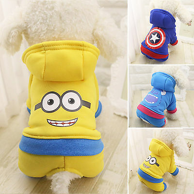 Small Pet Dog Clothes Winter Warm Costume Apparel Puppy Cat Sweater Hoodie Coat