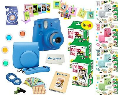 Fujifilm Instax Mini 9 Instant Camera - 60 Fuji Film SHEETS - Accessory Bundle