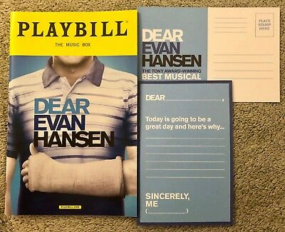 Dear Evan Hansen playbill OBC Ben Platts Final Show Free quick shipping