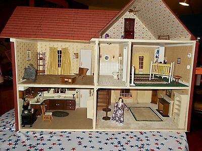 Vintage 1960s Large doll house and All Furniture and Accessories