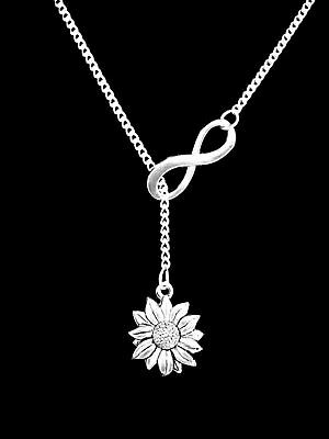 Daisy Necklace Sunflower Lariat Flower Nature Friend Mothers Day Gift Jewelry