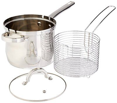 High Quality Stainless Steel 3 pcs- Deep Fryer Set with Basket