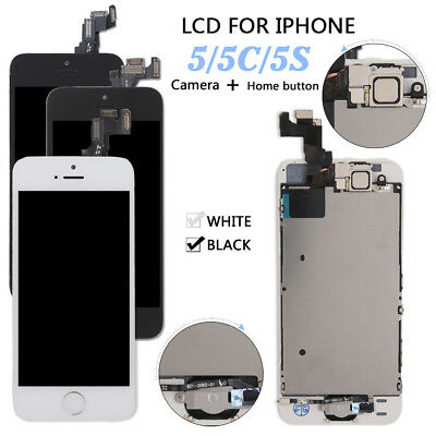 For iPhone 5 5s 5c 6 LCD Touch Screen Digitizer Replacement -Home Button -Camera
