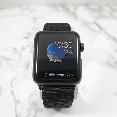 Apple Watch Series 3 42mm Space Gray Aluminium Case GPS Cellular Obsidian Loop