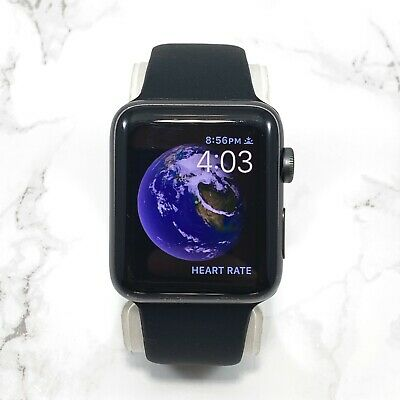Apple Watch Series 2 42mm Space Gray Aluminum Case GPS Black Sport Band