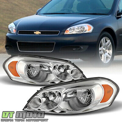 2006-2013 Chevy Impala 07 Monte Carlo Headlight Headlamps Replacement Left-Right
