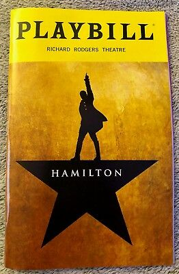 Hamilton playbill - Broadway - Brand New - Free quick shipping Free Gifts