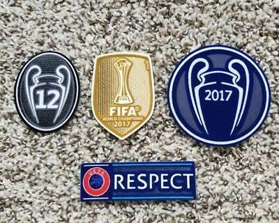 2017 UEFA CHAMPIONS LEAGUE Real Madrid  SET Soccer patch 12 TROPHY badge  patch