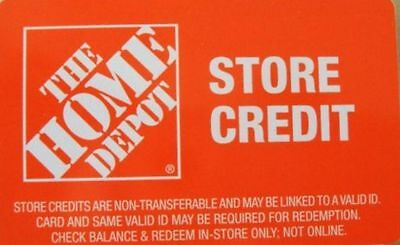 Home Depot store credit  208-90 ST1