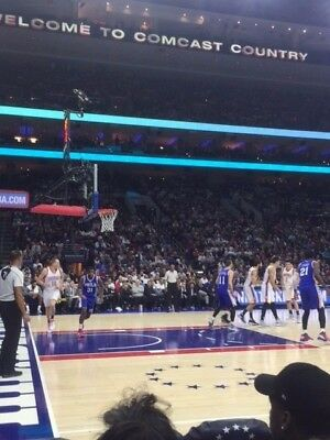 2 76ers vs Blazers Row 1 AMAZING LOWER LEVEL Tickets WED 1122 AISLE
