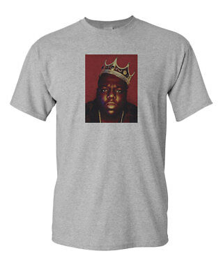 KING BIGGIE SMALLS NOTORIOUS BIG MENS GILDAN T-SHIRT TEE NEW - SPORT GREY