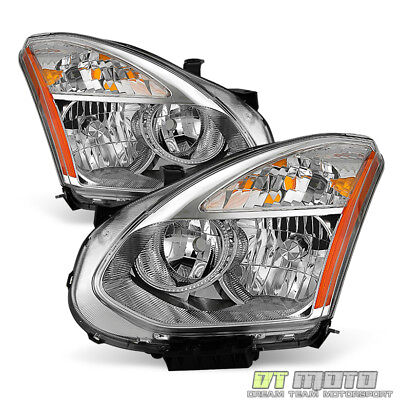For 2008-2013 Rogue Headlights Headlamps Replacement Halogen Model Left-Right