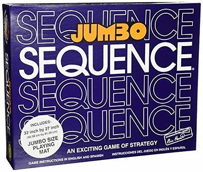 Jax Jumbo Sequence Board Game Box Edition with Jumbo Cushioned Mat New SEALED