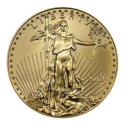 2018 110 oz Gold American Eagle 5 GEM BU Coin SKU50852