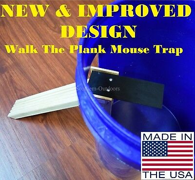 New - Improved Walk The Plank Mouse Trap - Auto Reset - USA MADE