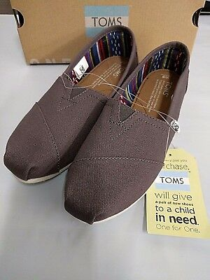 Toms Womens Classic Gray Ash Flats Oxfords Shoes Slip On Pick Size NEW