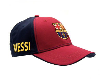 FC Barcelona Messi Cap Great Soccer Hat Official Team Colors and Crest NEW