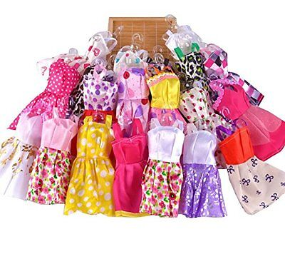 10 pcsLot Fashion Party Daily Wear Dress Outfits Clothes For Barbie Doll Toy US