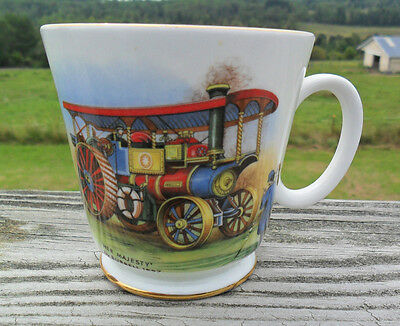 Royal Grafton Tea Cup Trimmed in Gold HER MAJESTY Steam Locomotive