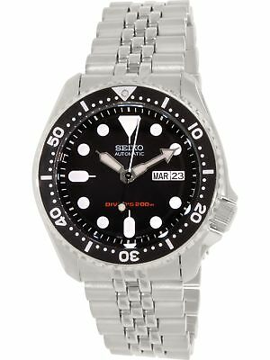 Seiko Mens Diver Automatic SKX007K2 Silver Stainless-Steel Diving Watch