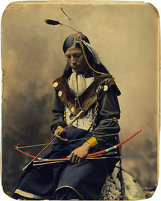 Oglala Sioux Council Chief Bone Necklace 1899 Native American Indian Art Print