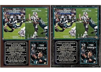 Philadelphia Eagles Super Bowl LII Champions Photo Plaque