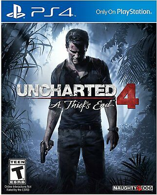 New Sealed Uncharted 4 A Thiefs End Sony PlayStation 4 2016 PS4 Video Game
