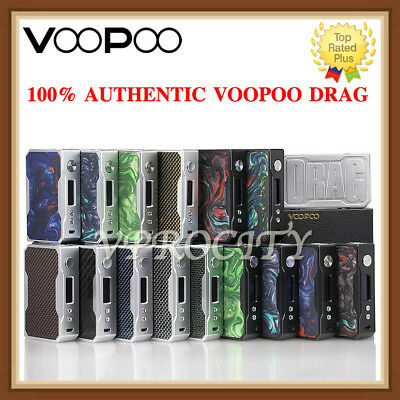 AUTHENTIC VOOPOO DRAG 157W TC Gene Chip Mod - BlackSilver Frame Resin - Carbon
