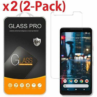 2-Pack Tempered Glass Coverage Screen Protector for Google Pixel 2  Pixel 2 XL