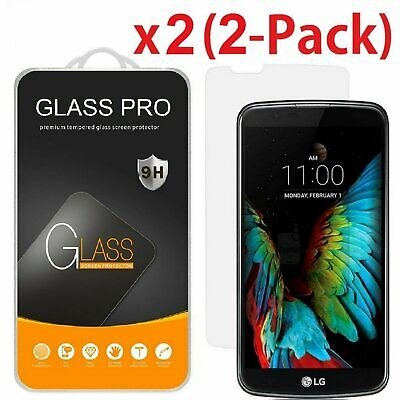 2-PACK Premium 9H Tempered Glass Screen Protector for LG K10