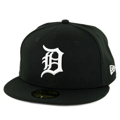 New Era 59Fifty Detroit Tigers Custom Fitted Hat BlackWhite Mens Classic Cap