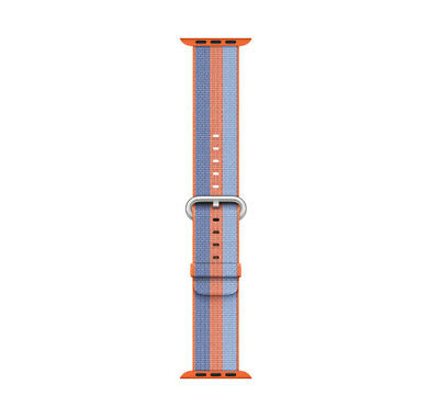 Genuine Apple Watch Woven Nylon Band 38mm Orange Stripe - MPVV2AMA - VG