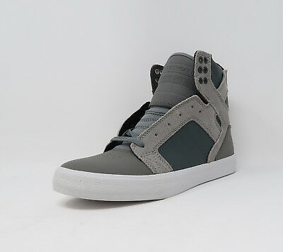 Supra Shoes Mens Skytop Grey White Sneakers S18162-GRY 2309