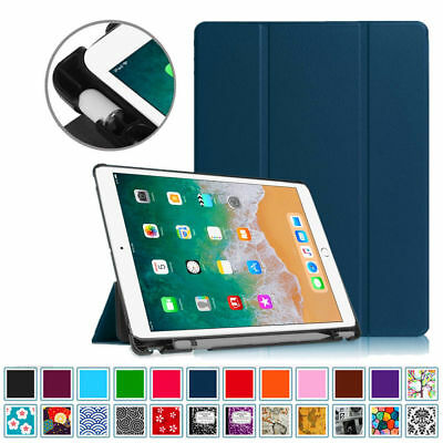 iPad 9-7 6th Gen Case with Built-in Apple Pencil Holder Smart Slimshell Cover
