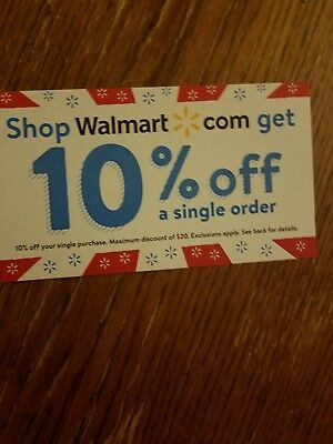 Walmart-com 10 Off Coupon for Online Orders Exp 73118 20 Max Discount