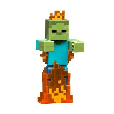 RELISTED MINECRAFT ZOMBIE IN FLAMES 5-INCH ACTION FIGURE