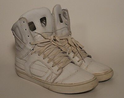 Supra Skytop II 2 TUF White Duct Tape Skateboard Shoes Size US 10